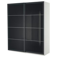 PAX Armoire pte coul - blanc, 200x66x236 cm - IKEA