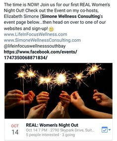 Girls night Out Event at www.LifeInFocusWellness.com/services