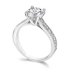 1.5 Ct. Round Fancy CZ Solitaire Engagement Ring
