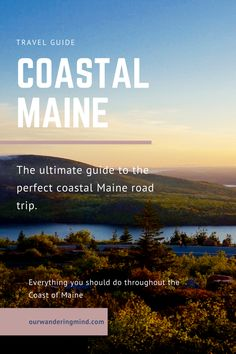 Ultimate Guide to a Week-Long Coastal Maine Road Trip. What to see, where to stop and what to do along the coast of Maine. Maine Road Trip, East Coast Road Trip, Road Trips, New England Travel, Acadia National Park, Travel Usa, Travel Tips, Travel Maine, Travel Ideas