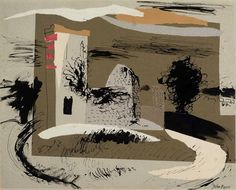 John Piper (British, Knowlton, Dorset, 1938 signed in pencil (lower right) ink and collage x Provenance: Geoffrey Eastop Collection. Seascape Paintings, Landscape Paintings, Landscapes, John Piper Artist, Dulwich Picture Gallery, Landscape Architecture Drawing, Royal College Of Art, New Art, Art Photography
