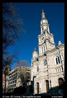 Cathedral of the Blessed Sacrament, afternoon. Sacramento, California, USA