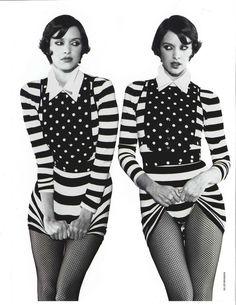 """Paris in Black and White"" Elle Magazine - February 1995 Model: Patricia Hartmann Photographer: Gilles Bensimon"