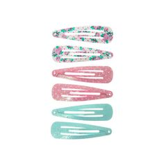 Pastel Snap Clips | Claire's ($35) ❤ liked on Polyvore featuring accessories, hair accessories and claire hair accessories
