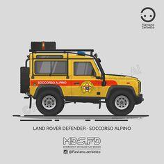 KombiT1: Land Rover Defender - Soccorso Alpino