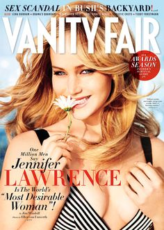 Adorable cover of Jennifer Lawrence for Vanity Fair, February Photographed by Ellen von Unwerth. Ellen Von Unwerth, Jennifer Lawrence, Josh Hutcherson, Jack Nicholson, Kristen Stewart, Scandal, Mtv, Selena Gomez, Vanity Fair Magazine