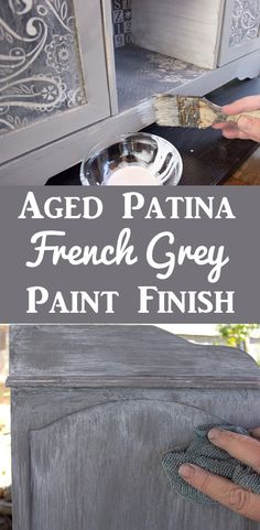 Create a Gorgeous French Grey Aged Patina Finish! I love this beautiful DIY Furniture Painting Technique by Thicketworks for Graphics Fairy. Great for getting that perfect Farmhouse Look! Sponsored Post