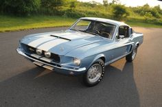 Brittany Blue 1967 Ford Mustang G.T. 500