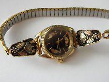 Vintage Harley Davidson Stamper Black Hills Gold Cuff Bracelet 10K