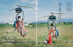 Rianne van Rompaey by Tim Walker for British Vogue December 2016