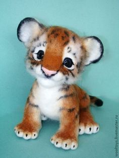 "Toy animals, handmade. Fair Masters - handmade Tiger ""Todd."" Handmade."