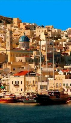 Ermoupoli, Syros Island, Greece ~ ~ Can you tell I Love Greece?~ it's here and on Global Architecture ~ Places Around The World, Travel Around The World, Around The Worlds, Albania, Dream Vacations, Vacation Spots, Santorini, Places To Travel, Places To See