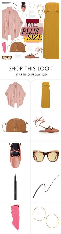 """""""Fall Look: Plus Size Dresses"""" by bklana ❤ liked on Polyvore featuring Melissa McCarthy Seven7, Mat, Vince Camuto, TIBI, Gucci, MAC Cosmetics, Stila, Lipstick Queen, Lana and bklana"""