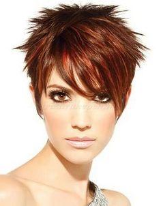 tüskés női rövid frizura