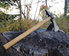 Hand-Forged Tomahawk, Hand Axe, Blacksmithed Hawk, iron, forged by ManleyCreekForge on Etsy