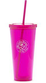 24 oz. Pink Stamp Logo Acrylic Cup