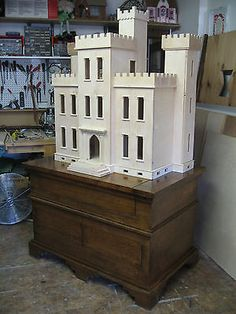 """Dollhouse Thornhill castle order only $6,500.00 3/4-1/2 """" Baltic birch plywood (the best in my opinion)"""