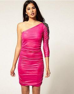 ASOS Rare Embellished One Shoulder Dress Size 12 - $54.5 on @ClozetteCo