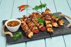 I found a great recipe for Prune marinated Chicken Kebabs Kebabs, Marinated Chicken, Great Recipes, Shrimp, Meat, Food, Marinade Chicken, Kabob, Essen