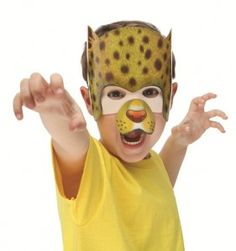 Cheetah mask 2- small