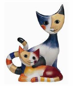 Rosina Wachtmeister porcelain cat figurines - purrrfect