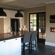 High Fire | Kitchen | interiors | french doors