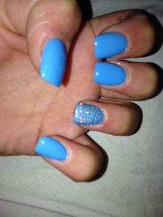 Short Blue Square Acrylic Nails My Nails Square Acrylic Nails Nails Acrylic Nails