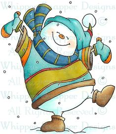 Mr. Freeze - Snowmen Images - Snowmen - Rubber Stamps - Shop