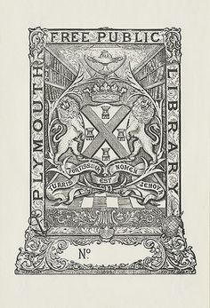 [Bookplate of the Plymouth Free Public Library] by Pratt Libraries, via Flickr