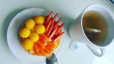 Mango, strawberry and mandaring tart