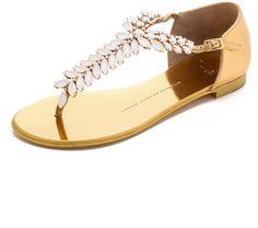 Giuseppe Zanotti Embellished Sandals - Gold