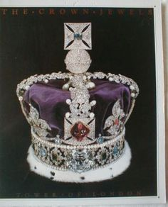 The Crown Jewels- The Imperial State Crown encrusted with 2,868 diamonds and numerous sapphires, emeralds, rubies and pearls. Designed for the coronation of George VI in 1937.