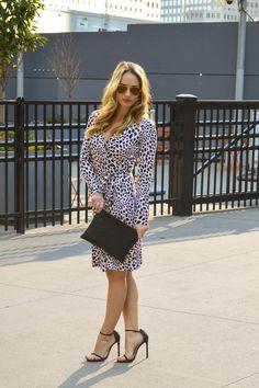 DVF Dress // Stuart Weitzman Shoes // Clare V Clutch cityluxestyle.com