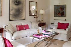 Mix and Chic: Cool designer alert- Suellen Gregory! // white w pop of pink