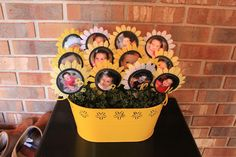A you are my sunshine party? I love it. one picture every month for the year.
