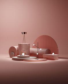 Spot Studio Create an Elegant Campaign for Italian Furniture Brands - PLAIN Magazine Display Design, 3d Design, Icon Design, Graphic Design, 3d Studio, Creative Studio, Cinema 4d, Italian Furniture Brands, Retail Design