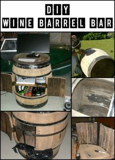 Learn How to Build a Bar From a Repurposed Oak Barrel