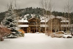 The Granite Lodge at The Ranch at Rock Creek, Philipsburg, #Montana, in all its snowy splendour.