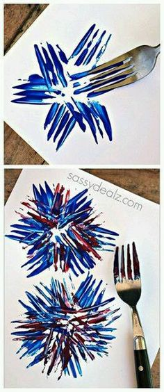 Fireworks Craft using a fork! Great for a kids of July craft or memorial day art project! Fireworks Craft using a fork! Great for a kids of July craft or memorial day art project! Summer Crafts, Holiday Crafts, Halloween Crafts, Firework Painting, Watercolor Fireworks, Toddler Crafts, Craft Activities, Memorial Day, 4th Of July