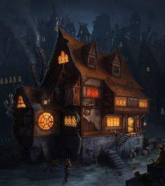 'Left hook' Tavern by Takeda11.deviantart.com on @deviantART, #tavern, #inn