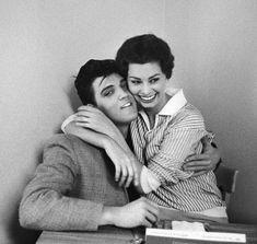 Bob Willoughby - Elvis Presley and Sophia Loren, 1958   1stdibs.com