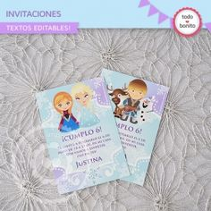 Frozen wrappers y toppers para cupcakes Frozen Party, Frozen Birthday, 3rd Birthday Parties, Birthday Ideas, Baby Shower, Templates, Disney Princess, Cards, Ideas Party