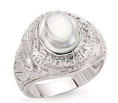 'Heavy Platinum Plated Solid Sterling Silver Men''''s College Ring'''  Price…