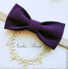 Галстук бабочка Violetta - тёмно-фиолетовый,однотонный,черничный,сливовый