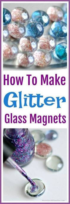How to make glitter glass magnets