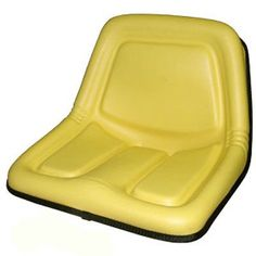 One New Aftermarket Replacement #Yellow High Back Seat made to fit John Deere Riding Mower Models: STX30, STX38, 130, 160, 165, 316, 318, 322, 330, 332, 420, 430...
