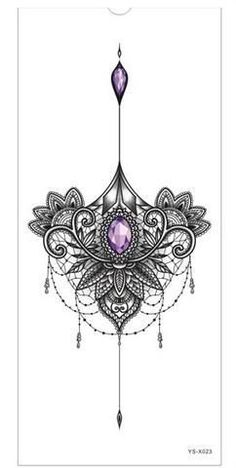 Chest or Sternum Temporary Tattoo #AwesomeTattoos #TattooIdeasFemale