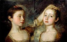 The artist's daughters, c.1758, Thomas Gainsborough.
