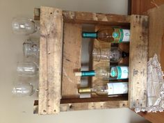 Cute for a little apartment/space or something! - DIY wine rack