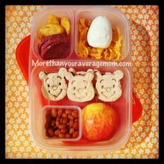 More than your average mom: Oh Pooh! Bento Lunch #pooh #easylunchboxes